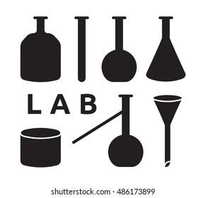 Laboratory equipments vector elements