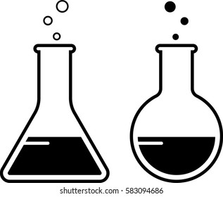 Laboratory Glass Beaker Icon Vector Illustration