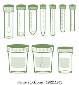 laboratory glassware from plastic. dishes for analysis. Stool analysis. Analysis of urine. Blood test. Transportation of biomateria