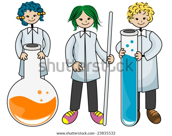 Laboratory Kids Vector Stock Vector Royalty Free 23835532