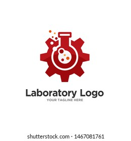 Laboratory Logo Template Stock Vector