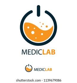 Laboratory logo, vector illustration logo design.