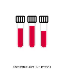 Laboratory tube icon. Flat design isolated tube on white background. Editable stroke.