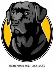 Labrador retriever dog, vector image.