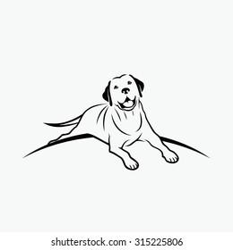Labrador retriever sign - vector illustration