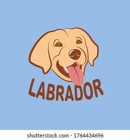 Labrador Retriever Smiling Dog Logo