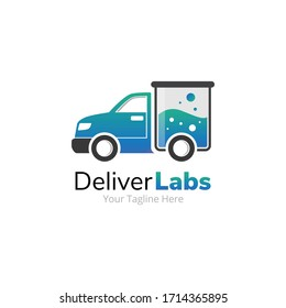 Labs Delivery Truck Logo Design