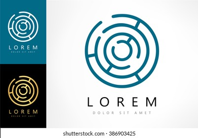 Labyrinth abstract logo. Puzzle rebus logic.