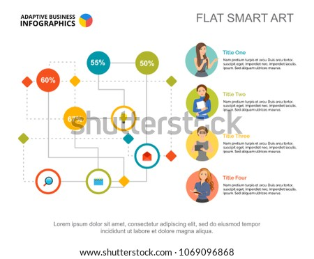 labyrinth flowchart infographic design editable template stock