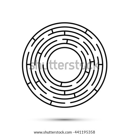 Labyrinth Icon Flat Template Design Element Stock Vector (Royalty ...