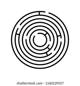Labyrinth icon. Maze and intricacy, confuse symbol. Flat design. Stock - Vector illustration
