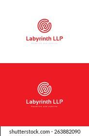 Labyrinth logo teamplate.