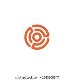 Labyrinth logotype, icon, vector illustration