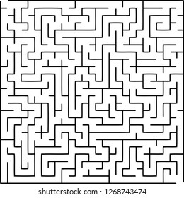 Labyrinth of medium complexity. Vector illustration of a maze.