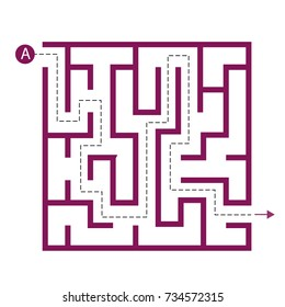 Labyrinth shape design element. One entrance, one exit and one right way to go. But many paths to deadlock.