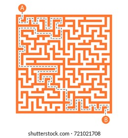 Labyrinth shape design element. two entrance and one right way to go. But many paths to deadlock.