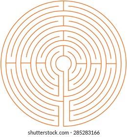 labyrinth texture pattern