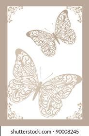 lace butterflies vector