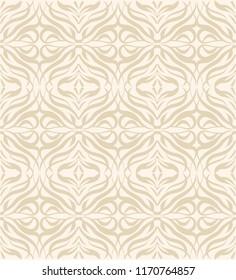 Lace elegant seamless wave pattern vector. Luxury style gold imitation