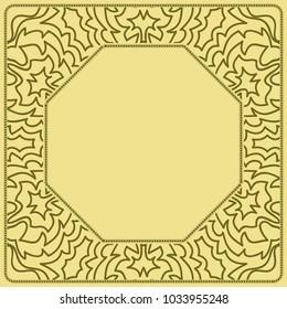 lace floral border ornament. vector pattern. decorative frame