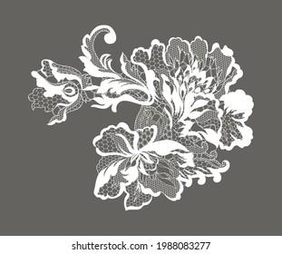 lace flower, bouquet, vector illustration