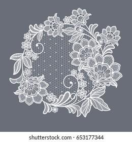 lace flowers decoration element