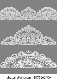 lace, lace napkins a set of lace objects, isolated objects for cards, invitations, banners, business cards, fabrics.
