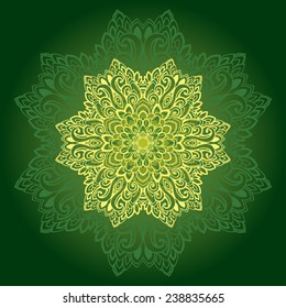 Lace ornament. Vector pattern.