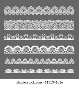lace ornaments set
