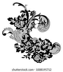 lace ornate element. vector illustration