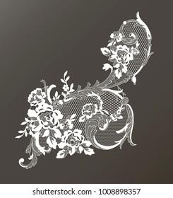 lace ornate element. vector illustration