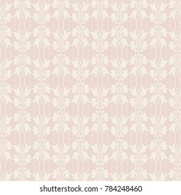 Lace Pattern Background, Repeat Pattern, Pink and Cream