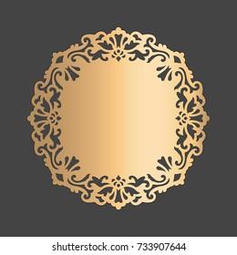 Lace round lace edged paper doily, wedding decor, design element, cake board cover.
