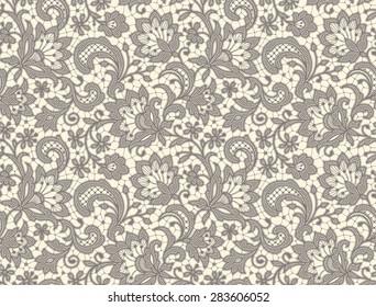 Lace. Seamless Pattern. Floral Pattern.