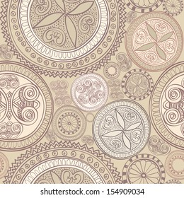 Lace seamless texture. Seamless geometric pattern. Abstract kaleidoscope tileable background.