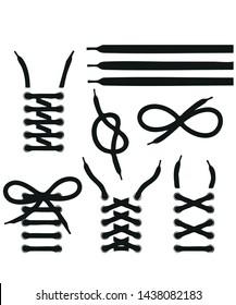 Lace Shoes Icon vector symbol icon
