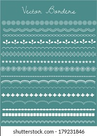 Lace Vector Borders and Edges Collection