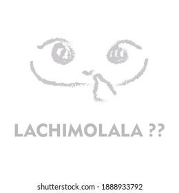 lachimolala cute face in grey
