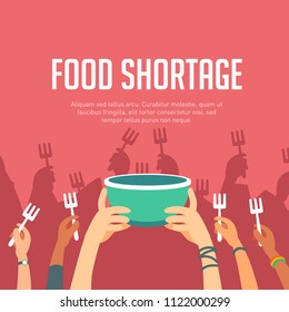 Lack of food or food shortage