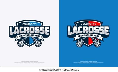 Lacrosse badge logo with modern minimalist style