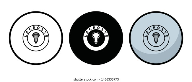 Lacrosse Ball Vector Illustration Silhouette