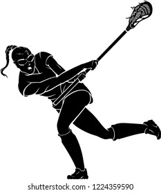 Image result for black and white drawing, swing at lacrosse ball