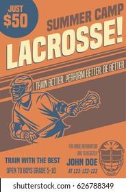 Lacrosse Flyer Template Summer Camp