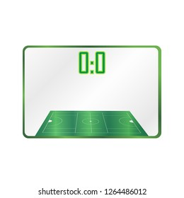 lacrosse Football Soccer Scoreboard Chart. Digital background vector illustration.Versus screen Infographic lacrosse playground, tablet. Isometric image isolated. Lacrosse score.
