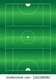 Lacrosse green field. Lacrosse. Vector illustration icons. Isolated on white background. Aerial view of lacrosse field with lines and goals. Lacrosse field for men and women match