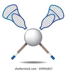 Lacrosse icon EPS 10 vector