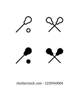 Lacrosse Icon Logo Vector Symbol. Stick Icon