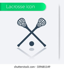 Lacrosse icon, sign, vector illustration