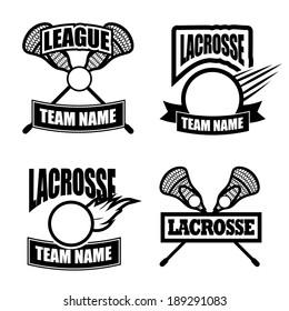 Lacrosse insignias EPS 10 vector
