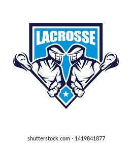 Lacrosse logo template vector illustration